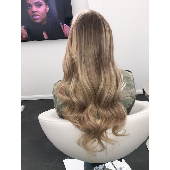 Extensions à clips Blond Balayage Châtain Froid 20""