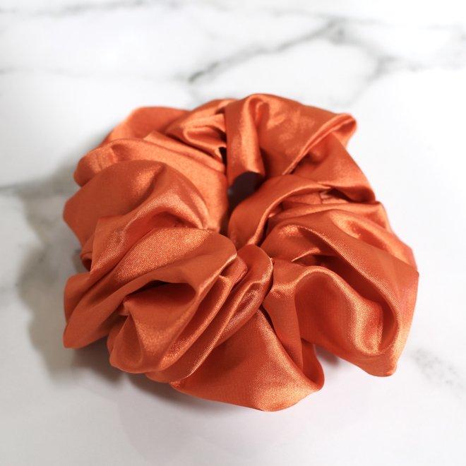 Chouchou en satin - Tangerine