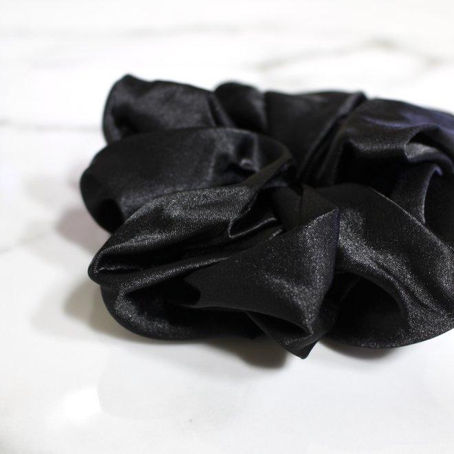 Chouchou en satin - Noir