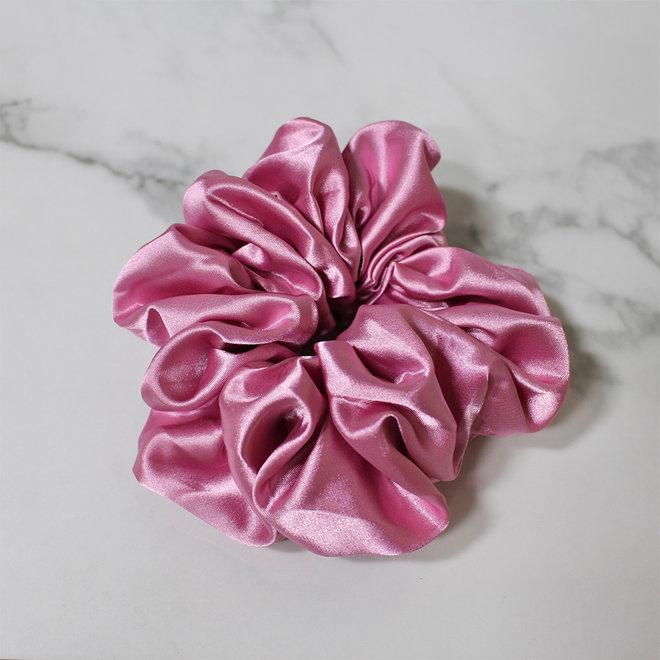Chouchou en satin - Rose bonbon