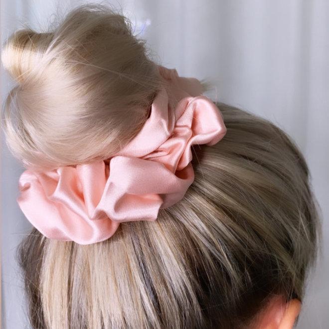 Chouchou en satin - Rose pâle