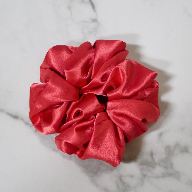 Chouchou en satin - Rouge gloss