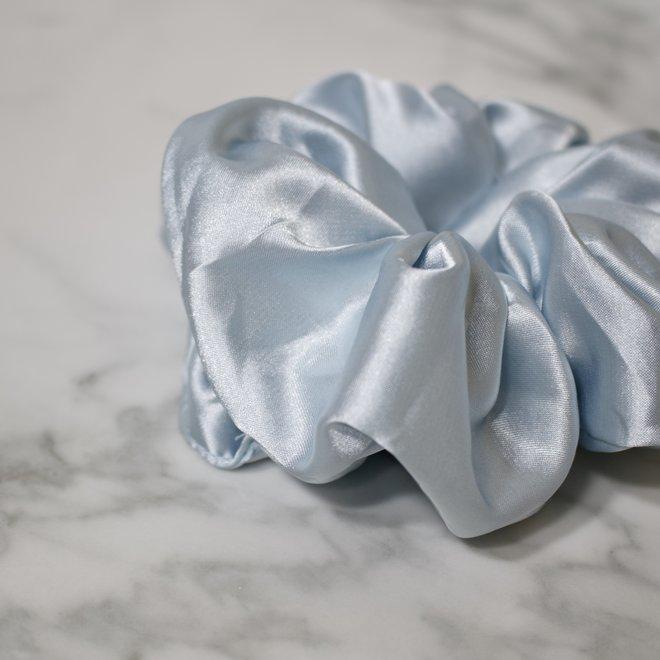Chouchou en satin - Bleu bébé