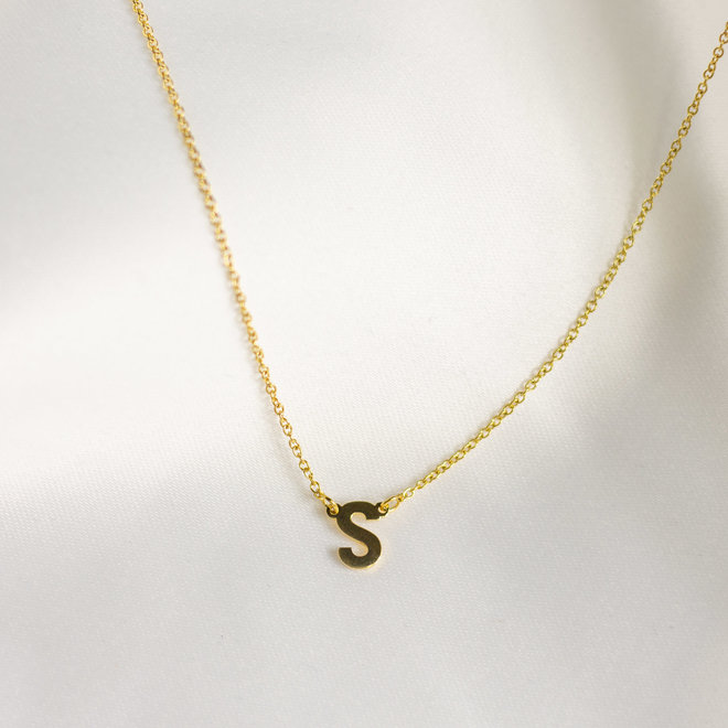 Collier pendentif lettre S - Or