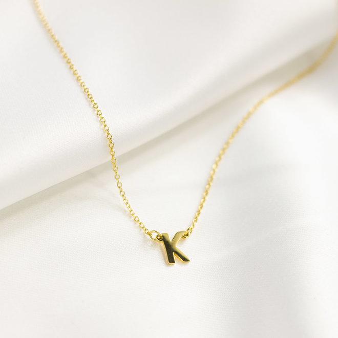 Collier pendentif lettre K - Or