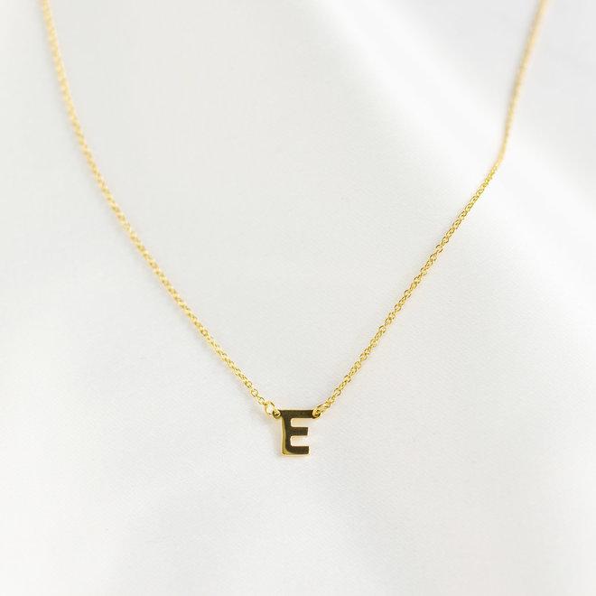 Collier pendentif lettre E - Or