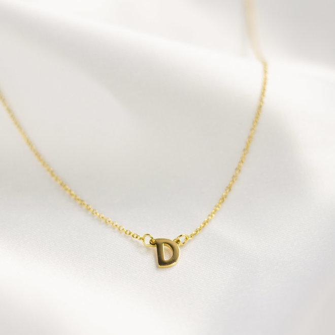 Collier pendentif lettre D - Or