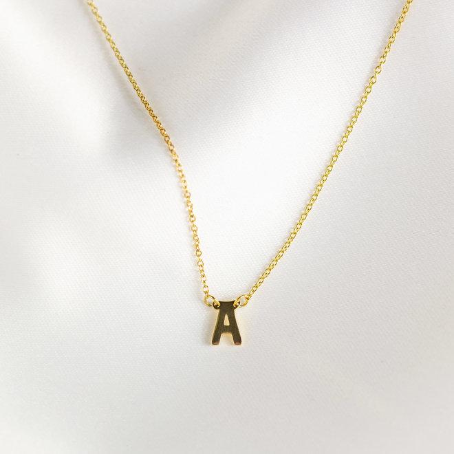Collier pendentif lettre A - Or