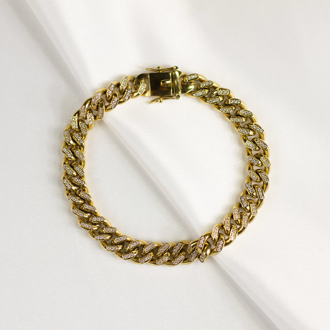 Bracelet chaîne gourmette Dhalia - Or