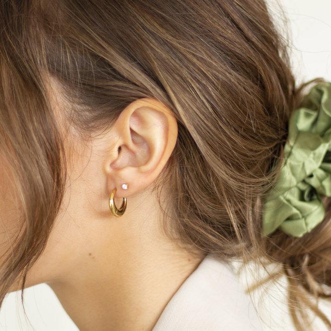 Boucles d'oreilles croissants Cardamome - Or