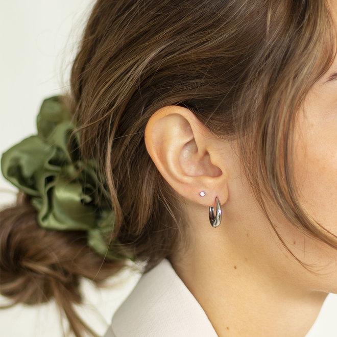 Boucles d'oreilles croissants Cardamome - Argent