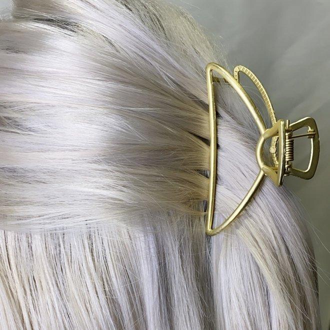 Pince à cheveux en métal Luna - Or