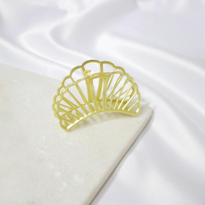 Pince à cheveux en métal croissant - Or