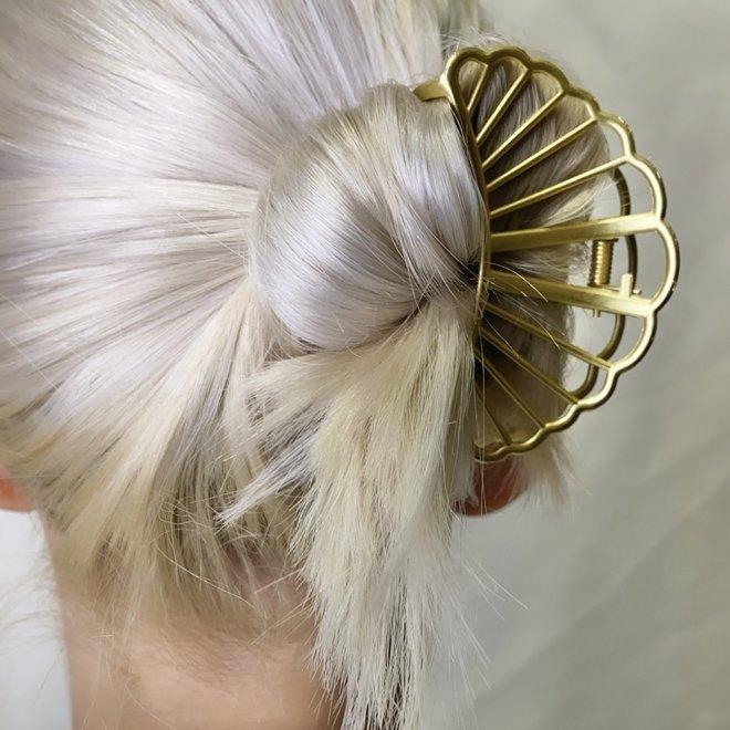 Pince à cheveux en métal croissant