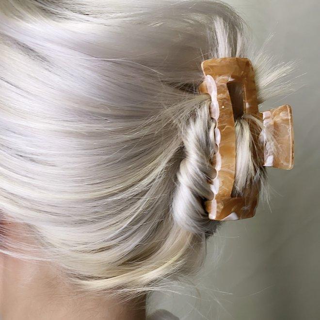 Pince à cheveux ajourée - Latté
