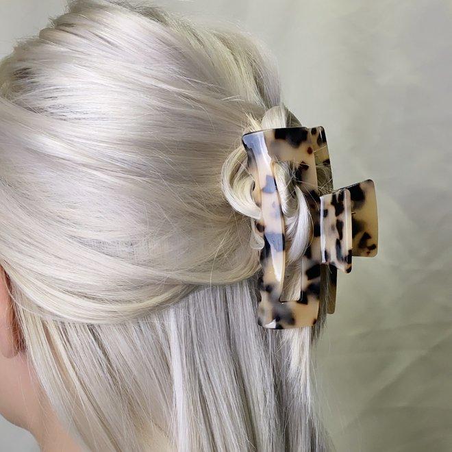 Pince à cheveux ajourée - Tortoise