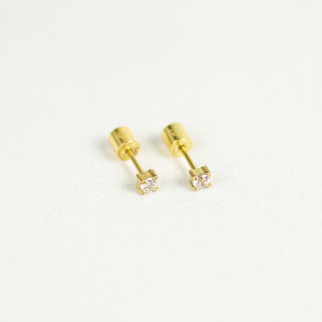 Boucles d'oreilles stud - 3mm