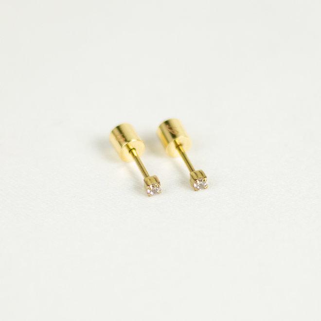 Boucles d'oreilles stud - 2mm