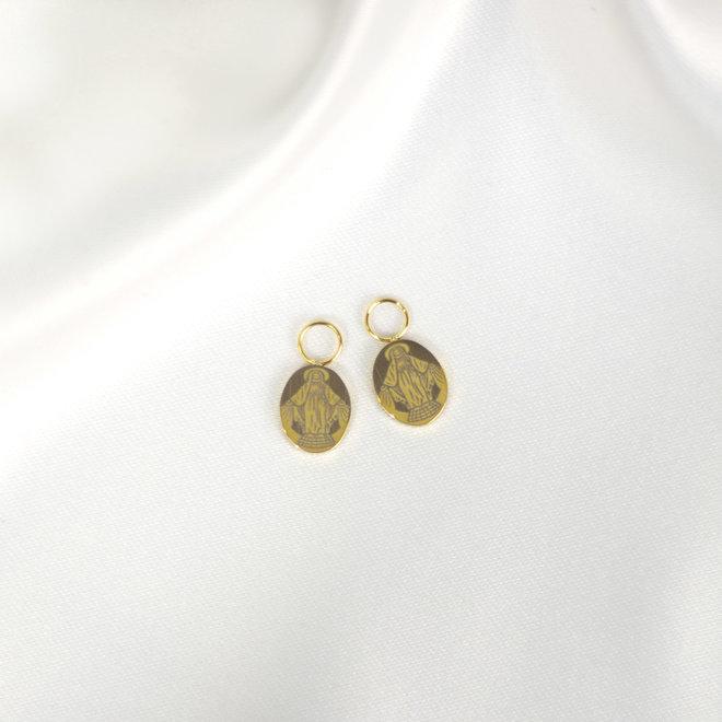 Charms à boucles d'oreilles Marie - Or