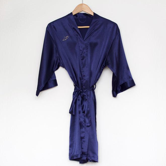 Peignoir en satin - Bleu royal