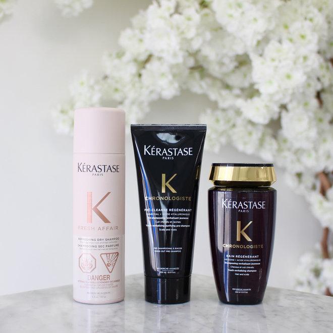 Routine Chronologiste avec shampoing sec