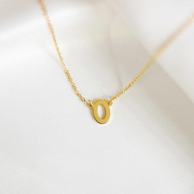 Collier pendentif lettre O - Or