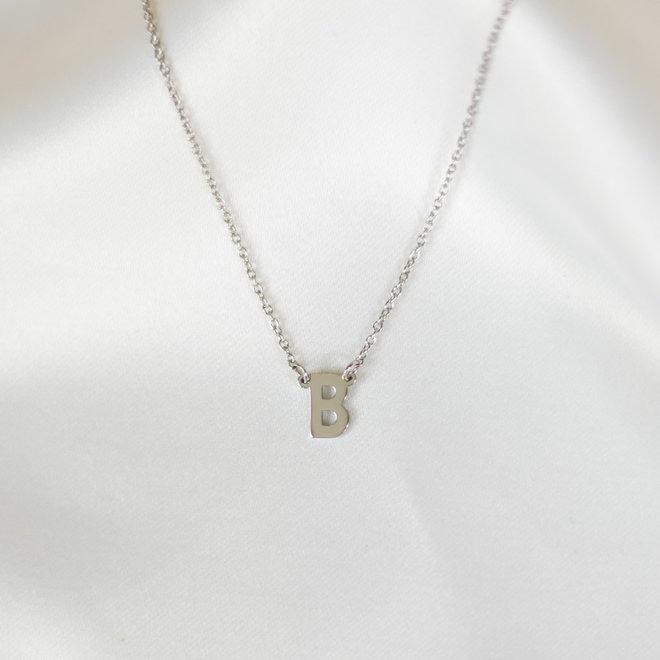 Collier pendentif lettre B - Argent