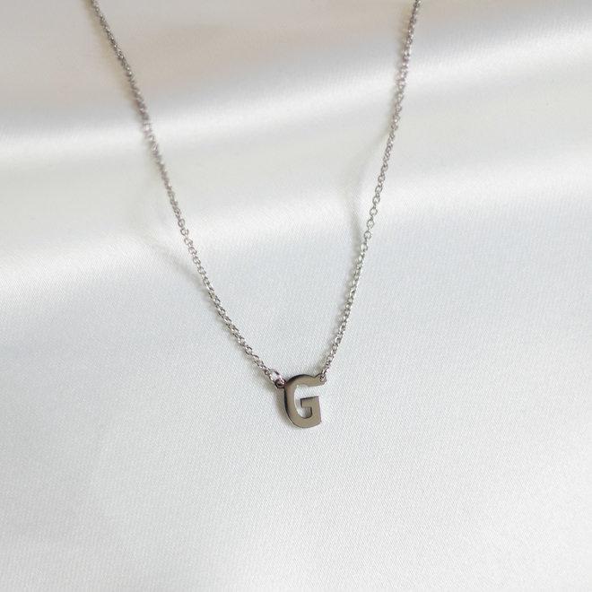 Collier pendentif lettre G - Argent