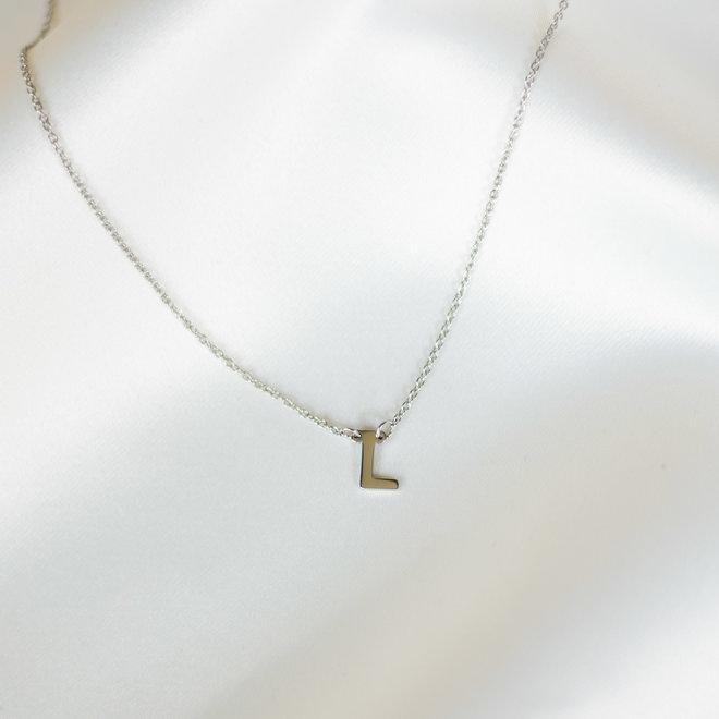 Collier pendentif lettre L - Argent