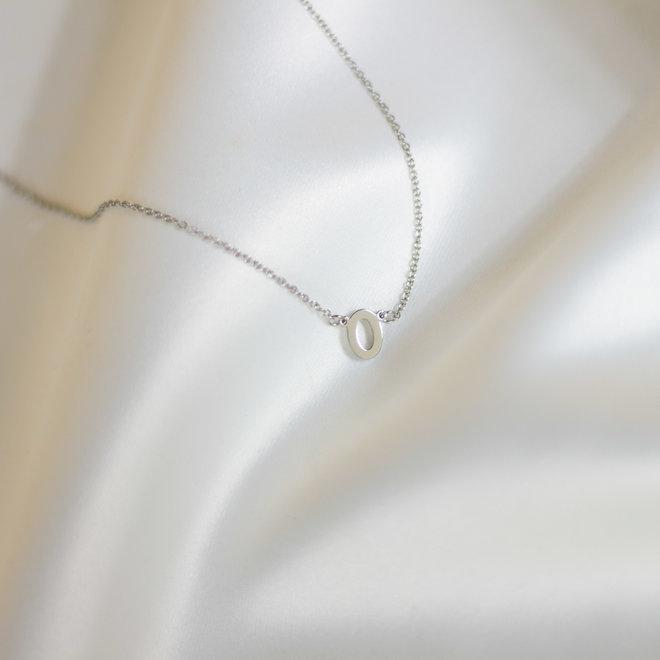 Collier pendentif lettre O - Argent