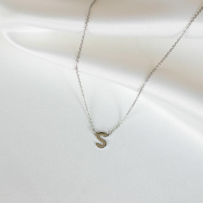 Collier pendentif lettre S - Argent