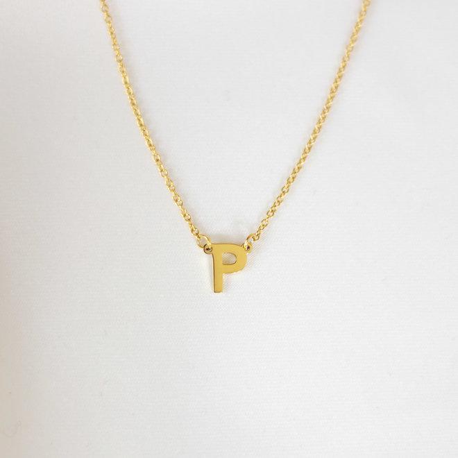 Collier pendentif lettre P - Or