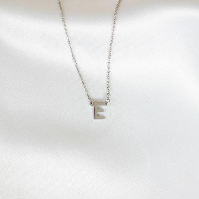 Collier pendentif lettre E - Argent