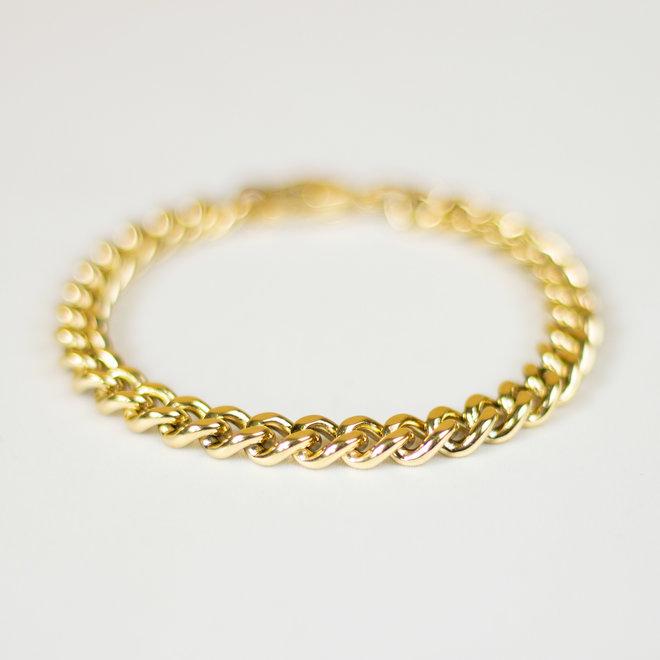Bracelet chaîne gourmette Pétunia - Or