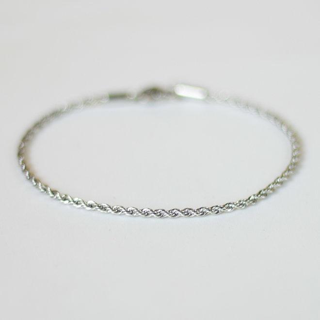 Bracelet torsadé Posy - Argent