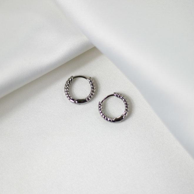 Boucles d'oreilles torsadées Carvi 13mm - Argent