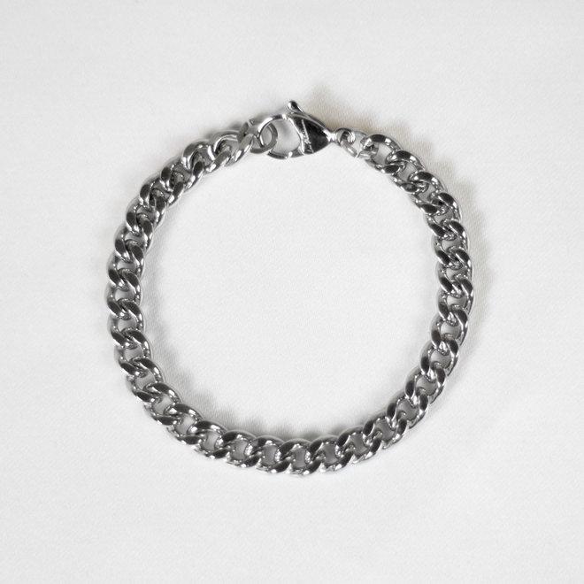 Bracelet chaîne gourmette Pétunia - Argent