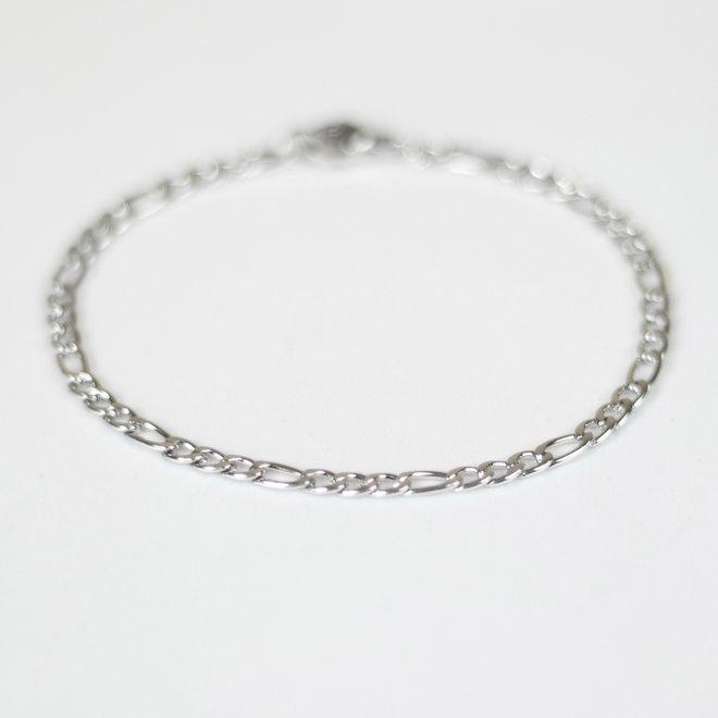 Bracelet figaro Périlla - Argent