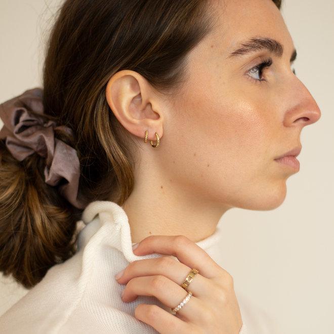 Boucles d'oreilles torsadées Carvi 10mm - Or