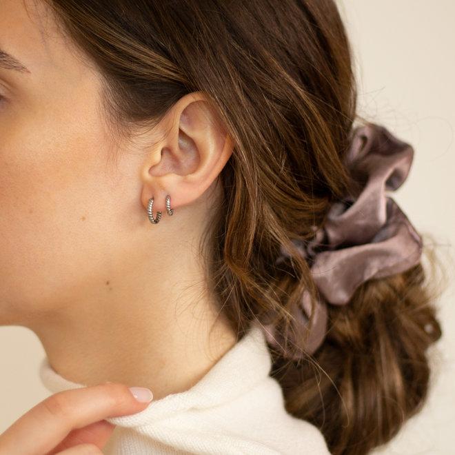 Boucles d'oreilles torsadées Carvi 10mm - Argent