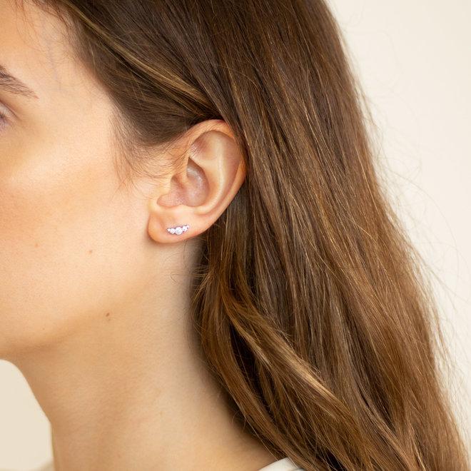 Boucles d'oreilles zircons Calamus