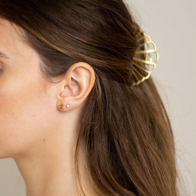 Boucles d'oreilles lettre R