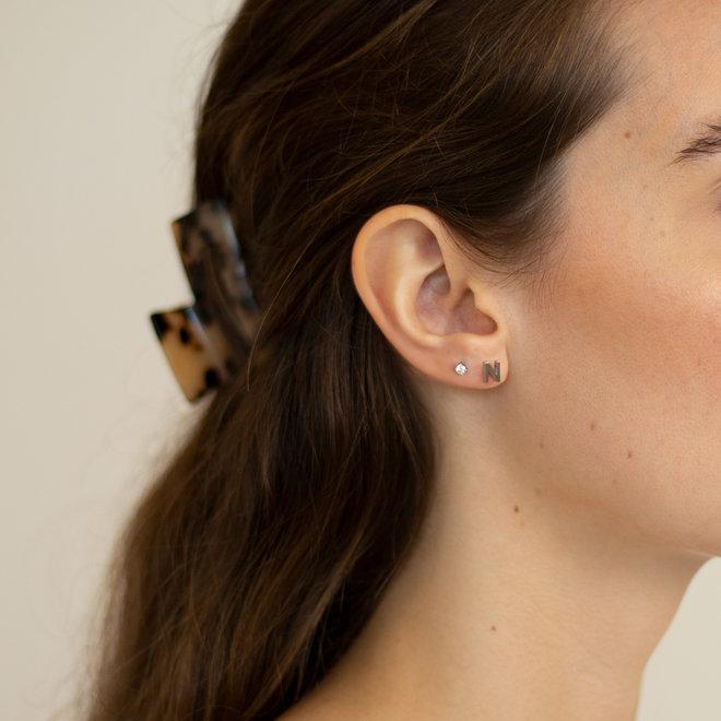 Boucles d'oreilles lettre N