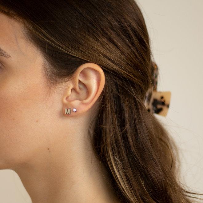 Boucles d'oreilles lettre M