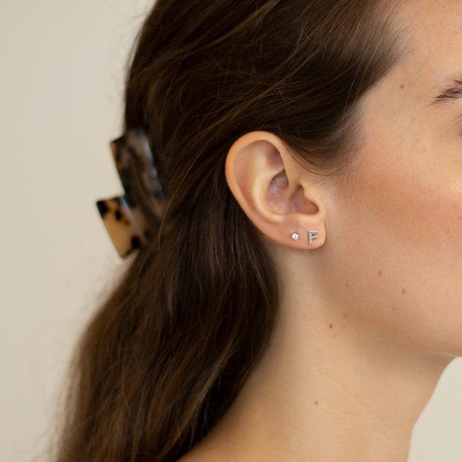 Boucles d'oreilles lettre F