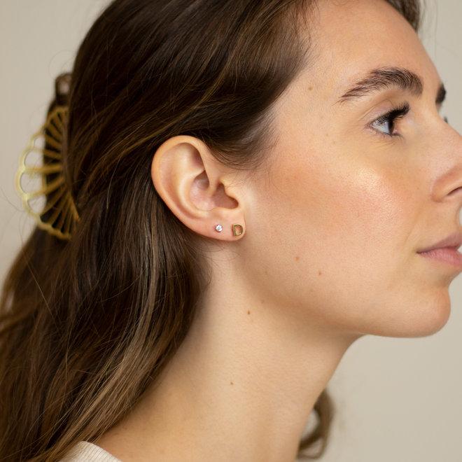 Boucles d'oreilles lettre D