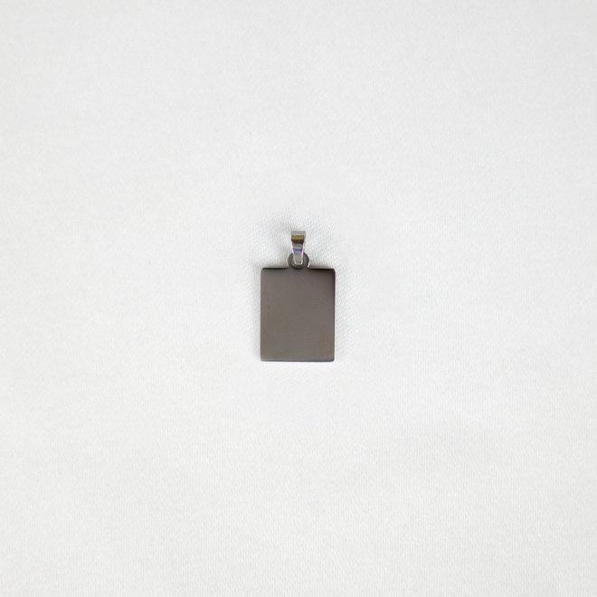 Pendentif rectangle Mioga - Argent