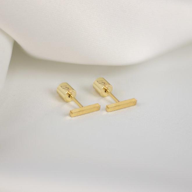 Boucles d'oreilles barres Vanille 11mm - Or