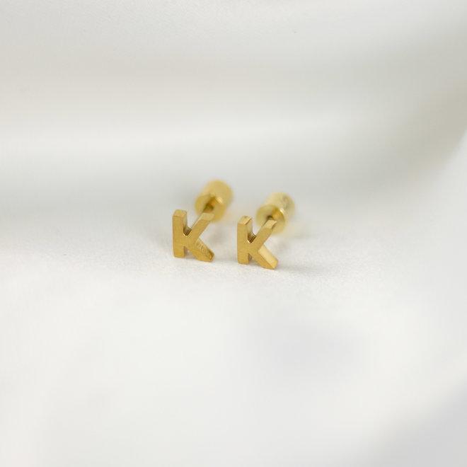 Boucles d'oreilles lettre K