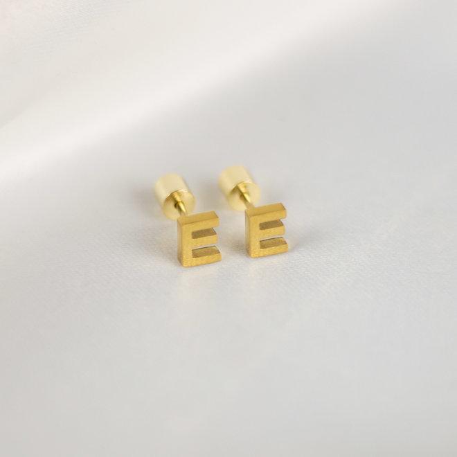 Boucles d'oreilles lettre E